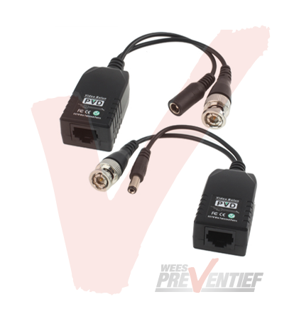Video Balun Met RJ45 Connector en Voeding