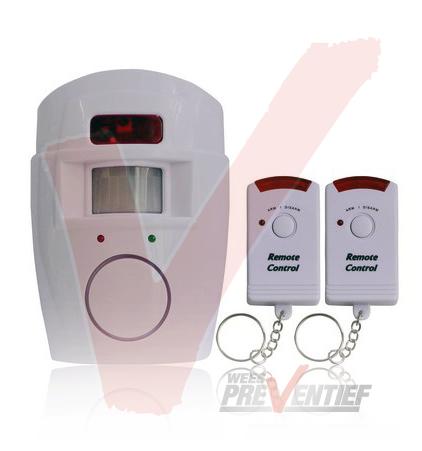 Alarm Met Bewegingssensor 105DB Inclusief 2 Afstandbedieningen