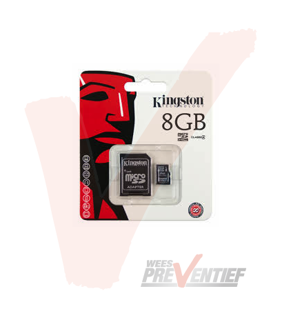 Kingston Micro SDHC Geheugenkaart 8GB Inclusief Adapter