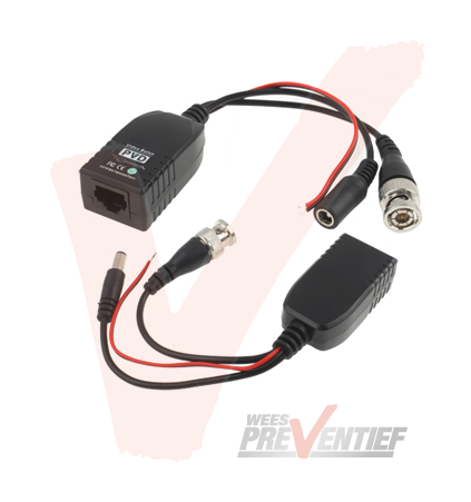 Video Balun Met RJ45 Connector, Data en Voeding